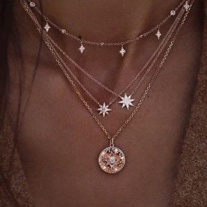 3/$25 Multilayer Shining Star Necklace
